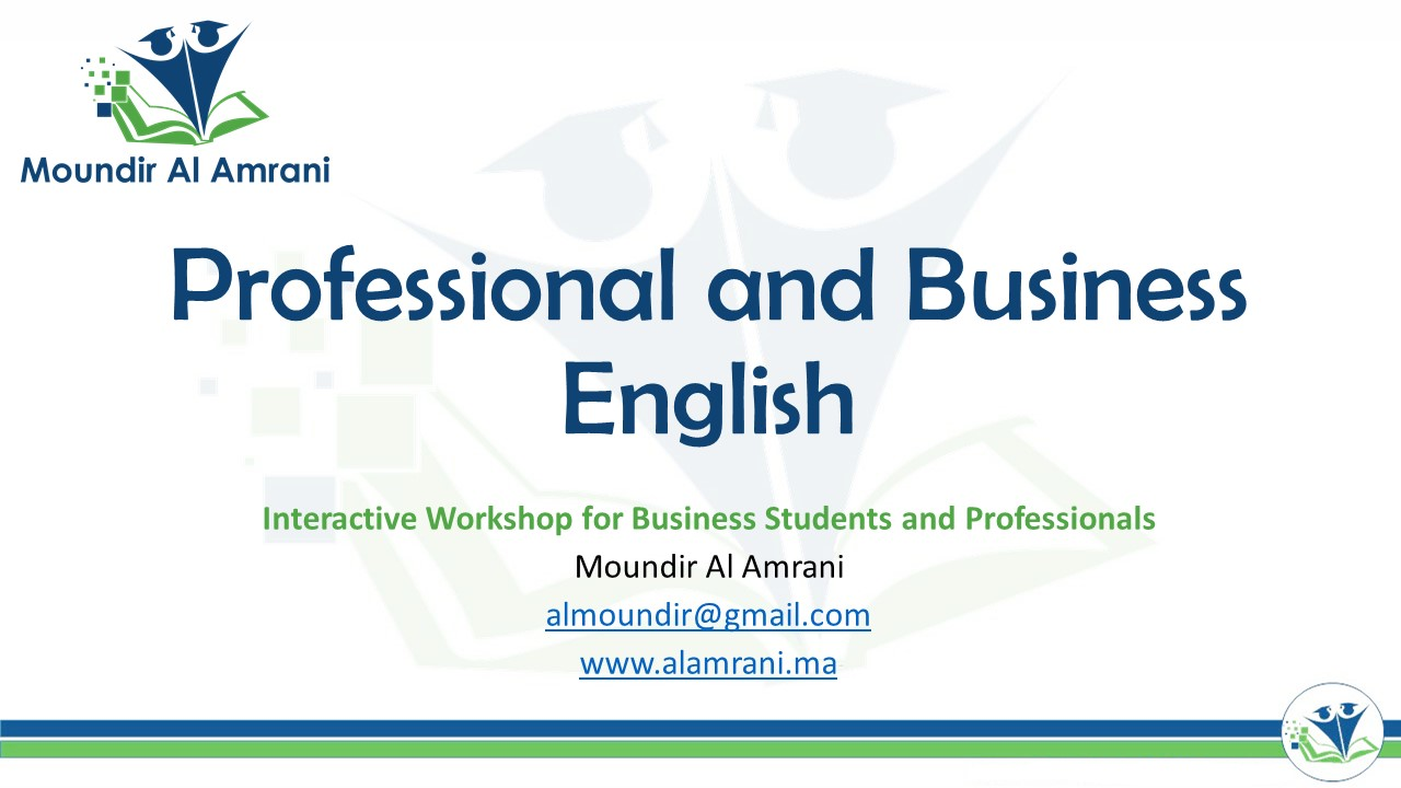 Unit 1 Professional and Business English Course